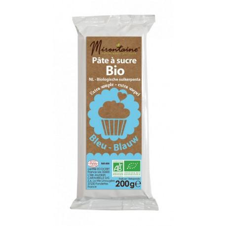 Pâte à sucre Bio Bleue 200g, Mirontaine
