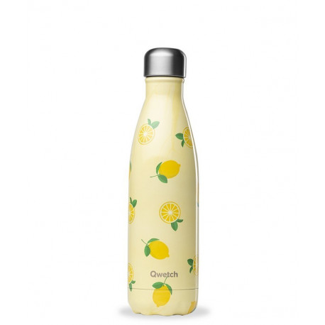 Bouteille Lemon isotherme 500ml, Qwetch