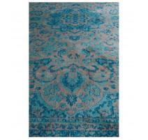 Tapis Chi Bleu motifs orientaux, Zuiver