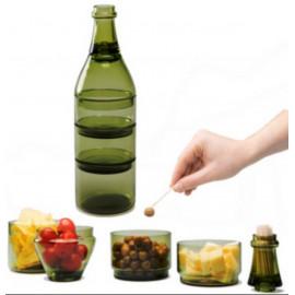"Set apéritif "" bouteille "" , Doiy Design"