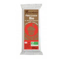 Pâte à sucre Bio Rouge 200g, Mirontaine