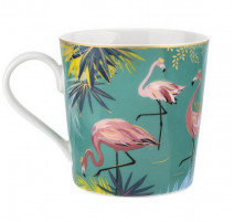 Mug Flamants Roses collection Tahiti, Sara Miller