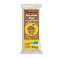 Pâte à sucre Bio Jaune 200g, Mirontaine