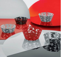 Corbeille rouge collection Barket, Alessi
