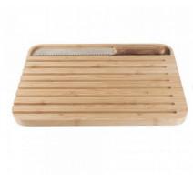 Planche à pain Bambou avec couteau, Pebbly