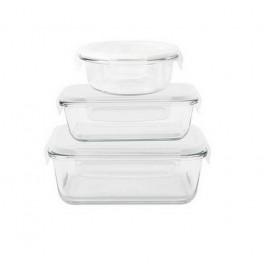 Set de 3 boîtes multiformes en verre, Pebbly