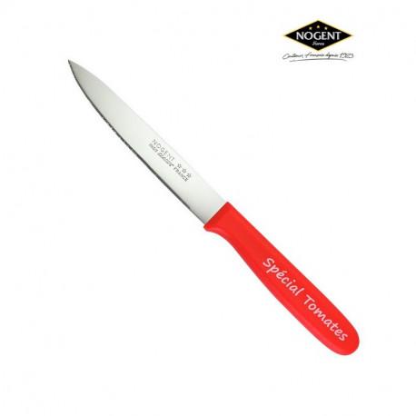 Couteau à tomate Rouge cranté, Nogent***