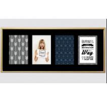 Cadre Scandi 21x49 cm avec 4 photos 10x15 cm, Emde