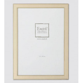 Cadre métal doré brossé 10x15 cm, Emde