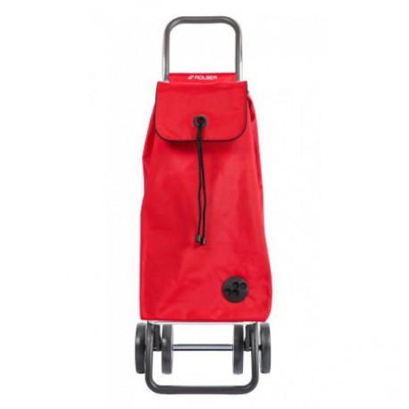 Poussette de marché 4 roues pliable I-Max rouge, Rolser