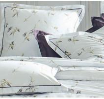 Taie d'oreiller Ancolie Perle, Blanc des Vosges
