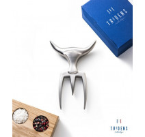 Fourchette à découper avec socle bois, Tridens