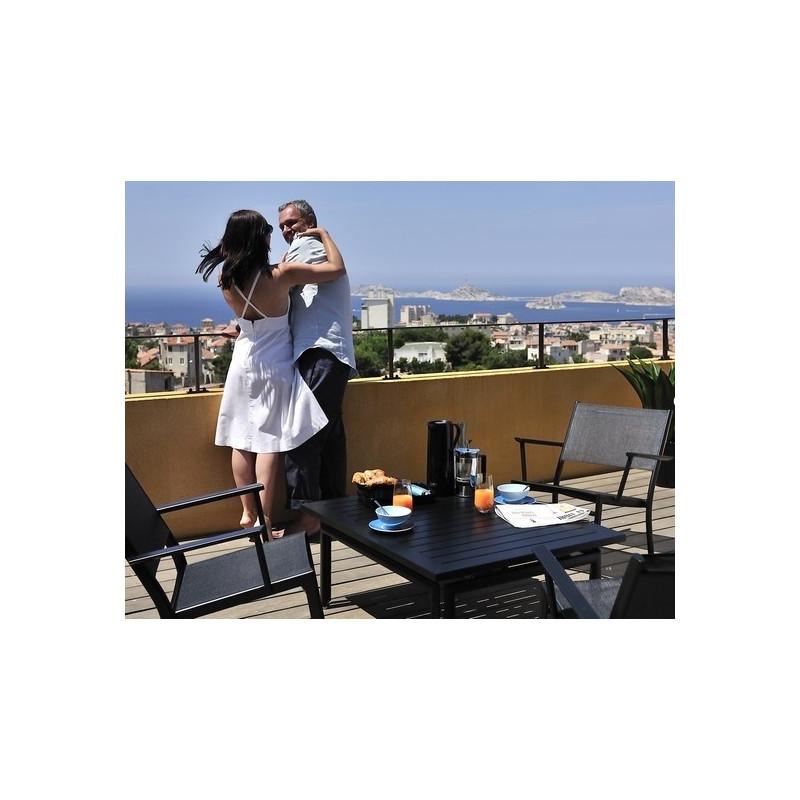 Acheter Table costa 160x90cm rallonges fermob - Tables de jardin ...