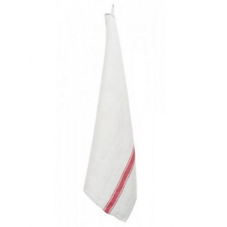 Torchon Vivario blanc et rouge, Harmony Textile