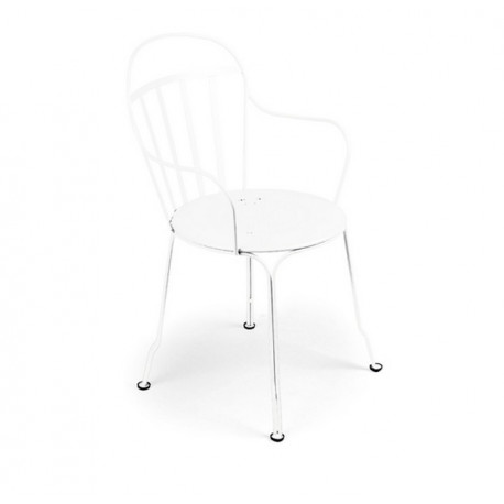 Fauteuil Louvre blanc empilable, Fermob