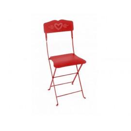 Chaise coeur coquelicot, Fermob