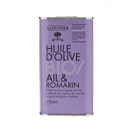 Huile d'olive Bio Ail & Romarin, A L'OLIVIER