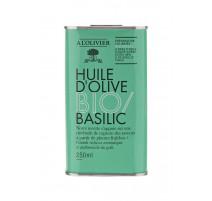 Huile d'olive Bio Basilic, A L'OLIVIER