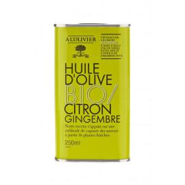 Huile d'olive Bio Citron & Gingembre, A L'OLIVIER