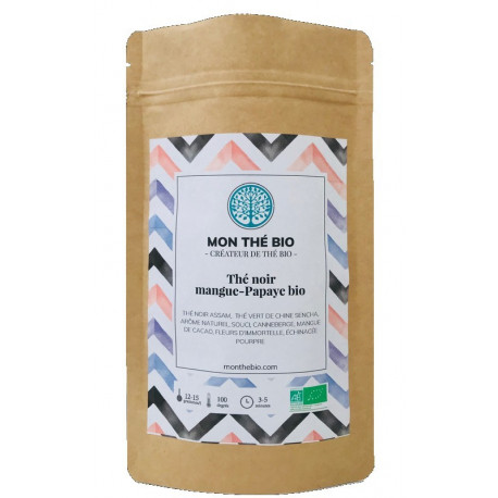 Thé noir Mangue-Papaye Bio, Mon Thé Bio