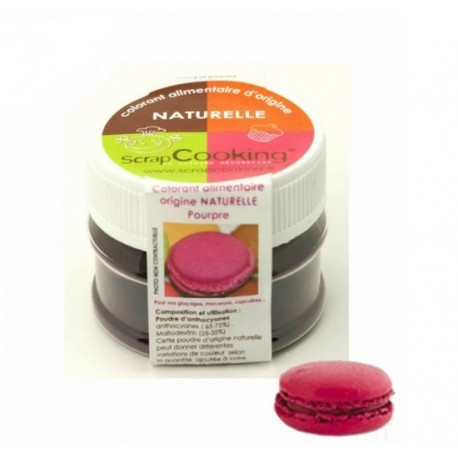 Colorant alimentaire naturel pourpre, Scrapcooking