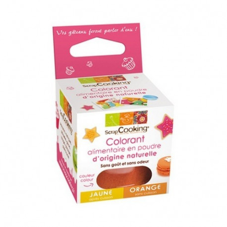 Colorant alimentaire naturel orange, Scrapcooking