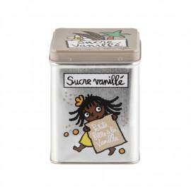 Boîte à sucre vanillé petite fille, Derrière la porte