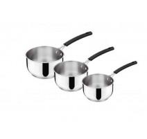 Série de 3 casseroles Tempra inox, Lagostina