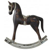 Statue cheval à bascule Troja noir, Affari