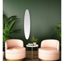 Miroir ovale doré 24x118 cm, Emde