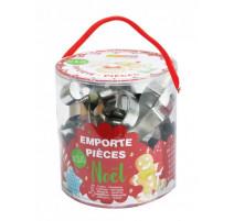 Seau 18 emporte-pièces Noël, ScrapCooking