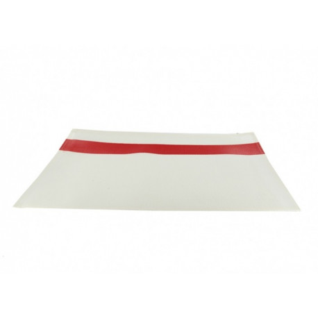 Set de table bande rouge en PVC, Siba