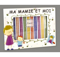 Cadre ma mamie et moi (version garçon) 480MAMIGT15