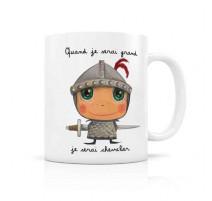 "Mug ""Quand je serai grand"" chevalier, Isabelle Kessedjian"