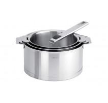 série 3 casseroles inox strate amovible, Cristel