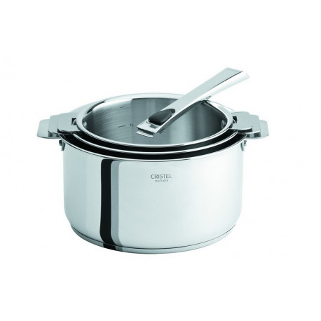 Série de 3 casseroles amovibles inox Casteline, Cristel