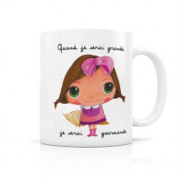 "Mug ""Quand je serai grande"" Gourmande, Isabelle Kessedjian"