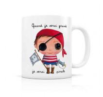"Mug ""Quand je serai grand"" Pirate, Isabelle Kessedjian"