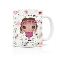 "Mug ""Quand je serai grande"" nature fille, Isabelle Kessedjian"
