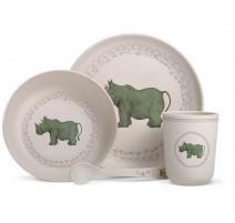 Coffret vaisselle Bambou Rhinocéros, Les enfants rois