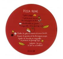 Plat à pizza et sa roulette recette pizza Reine, Derrière de la Porte