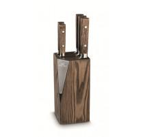 Bloc Seki vintage + 5 couteaux, Sabatier