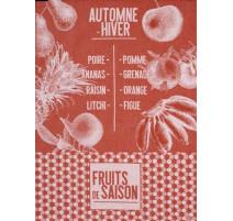 """Torchon """" De Saison """" Fruits, Le Jacquard Français"""