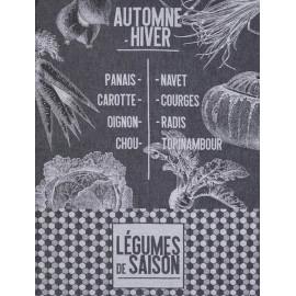 """Torchon """" De Saison """" Légumes, Le Jacquard Français"""