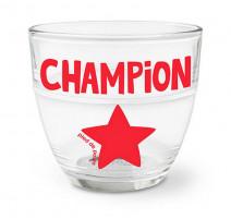 """Verre duralex """" Champion """", Pied de Poule"""