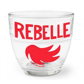"""Verre duralex """" Rebelle """", Pied de Poule"""