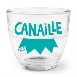 """Verre duralex """" Canaille """", Pied de Poule"""