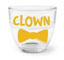 """Verre duralex """" Clown """", Pied de Poule"""