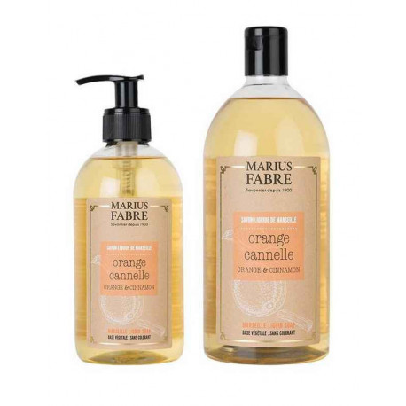 Savon liquide de Marseille Orange Cannelle, Marius Fabre