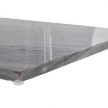 Planche rectangulaire en marbre blanc, Judge